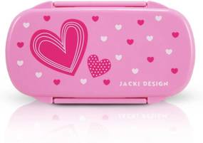 Pote para Lanche Infantil CoraçÁo Jacki Design Sapeka Pink