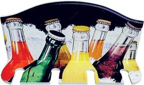 Porta Taças de Vinho Garrafas de Vidro Coloridas - 4 Taças - em MDF