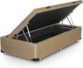 Box Hinter em Courino Bege SOLTEIRO