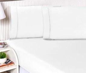 Roupa de Cama Casal King Suprema Percal 180 Fios 03 Peças - Branco