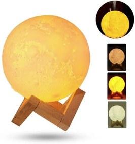 Luminária e Umidificador Lua Cheia 3D Grande (880ml)