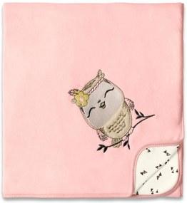 Manta de Soft Hug Floresta Encantada Rosa E14412
