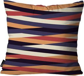 Capa para Almofadas Mdecore Listrada 45x45cm Multicolorido