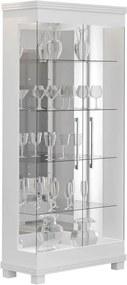 Cristaleira Ruby C/ 2 Portas de Vidro Branco Acetinado