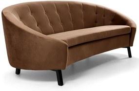 Sofá 3 Lugares Sala de Estar Brunet 210 cm Veludo Marrom - Gran Belo