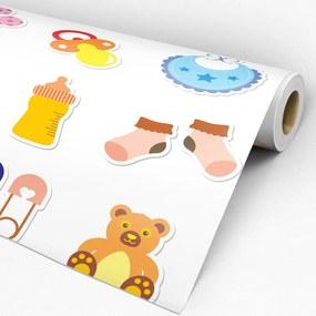 Papel de parede adesivo infantil colorido