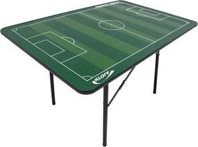 Mesa de Futebol de Botão Klopf com Pés de Ferro Verde