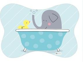 Tapete PET Mdecore Osso Elefante Azul 54x39cm