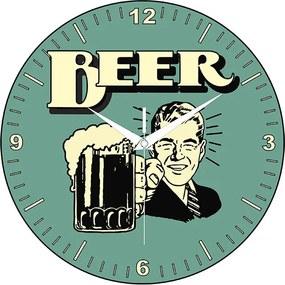 Relógio Beer Verde Água