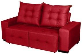 Sofá Retrátil E Reclinável Maximus 2,04 Mts Tecido Suede Vermelho - Moveis Marfim