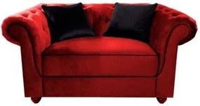 Poltrona Namoradeira 1,44m Vermelha em Veludo Meire