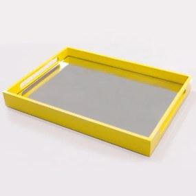 Bandeja Espelhada 3714 Amarelo - Portal Acessórios