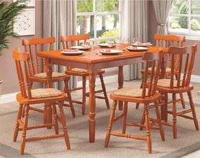Conjunto de Jantar Daiana com Cadeiras Estofadas -