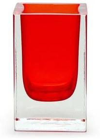 Porta Lápis Vermelho Murano Cristais Cadoro
