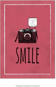 Poster Smile - Vermelho (60x90cm, Apenas Impressão)