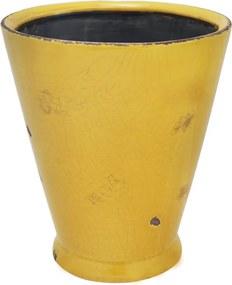 Cachepot em Cerâmica Amarelo Evan