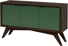 Buffet Serafim 3 Portas Envelhecido e Verde Musgo - Wood Prime MP 27645