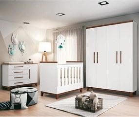 Conjunto Conforto Quarto Infantil Branco / Hannover