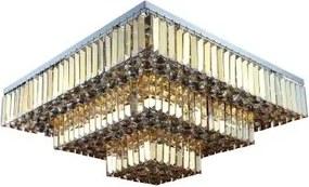 Plafon Arson II 67cm de Metal e Cristal Moderno