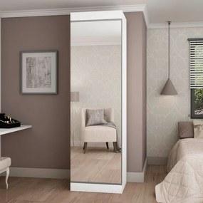 Sapateira Esmeralda 1 Porta com Espelho - Gelius Branco
