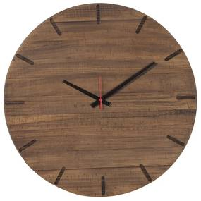 Relógio Pit de Madeira Maciça -