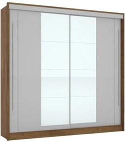 Guarda-Roupa Riviera Com Espelho Canela/Off White – Mirarack