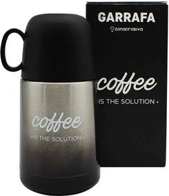 Mini Garrafa com Caneca Coffee is The Solution 210 ml