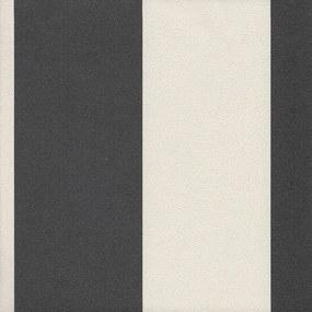 Papel de Parede Litra Larga Preto e Branco 52cm x 10m Harmonia