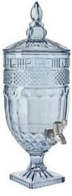 Suqueira Classica com pé em cristal ecológico 4,9l cor Azul
