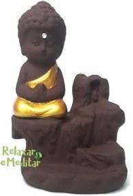 Incensário Cascata de Fumaça com Monge da Gratidão - Rosa Chá