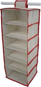 Organizador Cabideiro Vertical OrganiBox  de 92x30x28cm - Vermelho