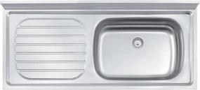 Pia de apoio em aço inox 120x55 cm - Standard - Tramontina