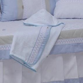 Toalha de Banho com Capuz Léo Azul