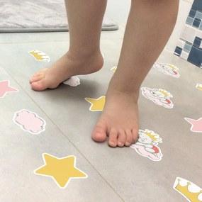 Adesivo Antiderrapante Piso de Banheiro Ursinha Princesa