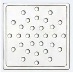 Ralo Quadrado Cromado 10x10cm - Expambox - Expambox