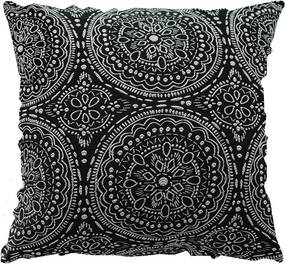Capa para Almofada Quadrada Azteca – Preto