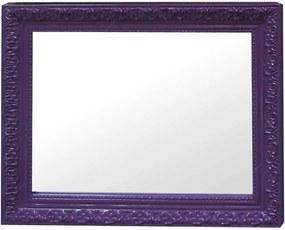 Espelho Charm Retangular Roxo em MDF - Urban - 48x38 cm