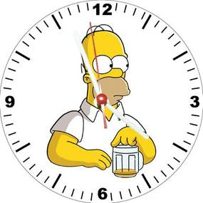 Relógio Decorativo Simpsons Homer Beer