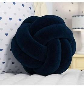Almofada Azul Marinho Nó Balú Decorativa 25cm Grão
