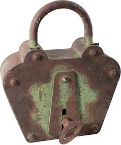 Porta Chaves com Cadeado Velho em Metal