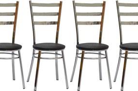 Kit 4 Cadeiras CV 075 CR - Villarte Móveis