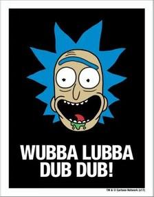 Placa Wubba Lubba Dub Dub