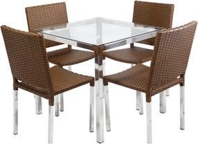 Conjunto Mesa e 4 Cadeiras Marrocos Luna - Área Externa
