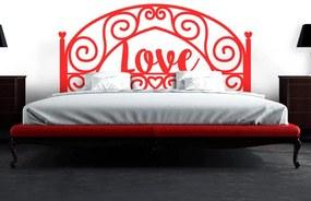 Adesivo de Parede Cabeceira Love - Único 138x62cm