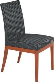 Cadeira sem braços Fibra Preta - Terrazzo Fibra - Cor Preto - Tramontina