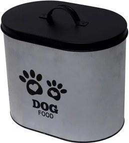Pote de Ração em Metal 25cm com Tampa Dog Food