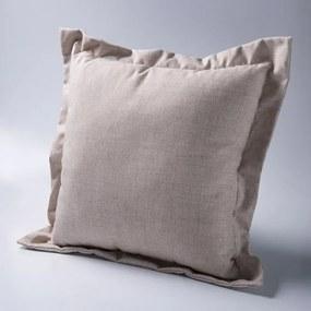 Almofada Quadrada Atual Tecido Linho - Enchimento 100% Fibra Siliconizada