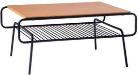 Mesa de Centro All 110cm Aço Preto/Marfim - Gran Belo