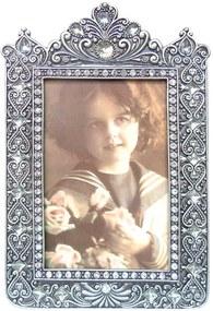 Porta-retrato Imperial Prata Envelhecido Pequeno - 19x12 cm