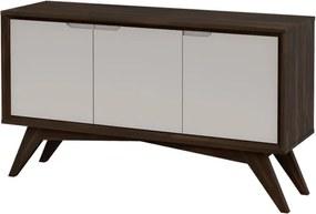 Buffet Serafim 3 Portas Envelhecido e Fendi - Wood Prime MP 27641